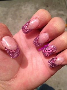 Breast Cancer Awareness - Nail Art Gallery by NAILS Magazine check out www.ThePolishObsessed.com for more nail art ideas.