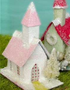 Vintage Churches Display--- tutorial