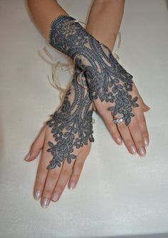 Wedding gloves, bridal gloves, fingerless lace, steampunk, Sparkle gloves, victorian, lolita, sexy belly dance, hand sewing.