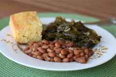 Southern Beans and Greens {Vegetarian}