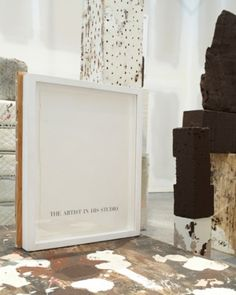 """Absolutely loved this installation. Notice text """"THE ARTIST IN HIS STUDIO"""" was so funny because he actually was present in the space when I saw the installation. I had to clarify if his presence was intentional (it wasn't) :)  Brion Nuda Rosch  Bay Area Now 6"""