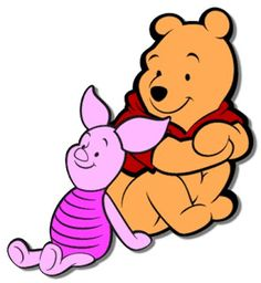 Pooh and Piglet Free SVG