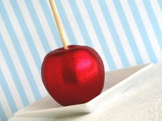 Red Glittered Chocolate Apples