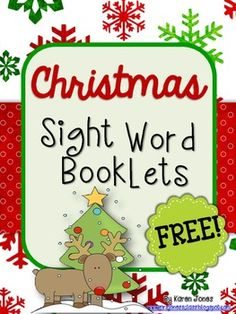 Free printable Christmas sight word booklets!