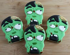 Zombie Cookies {Video Tutorial} - simplysweetsbyhoneybee.com