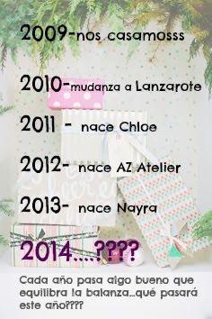 AZ ATELIER: Feliz 2014 sin listas ni tontas