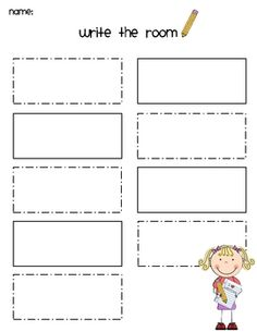 Write the Room ~Freebie (2 pages)