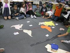 This is a great way to review geography skills.  I love the team work involved.