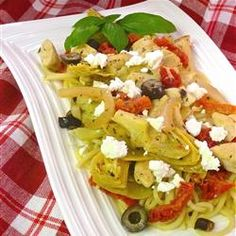 artichok, tomato allrecipescom, sundri tomato, tomato recipes, pasta