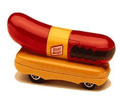 Hot Wheels wiener car wheel wiener, dog bus, hot dogs, hot wheels
