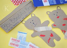 Boo-Boo Bears- what a great activity for working on those fine motor skills...