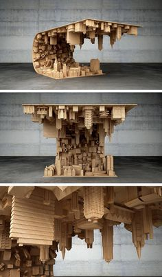Inspired by the 2010 film Inception, Cyprus-based designer Stelios Mousarris, has created the Wave City coffee table.