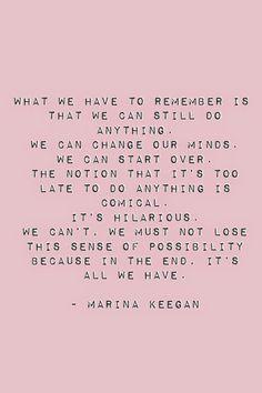 -Marina Keegan