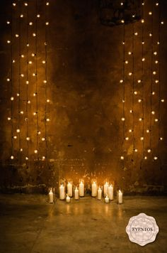 I love the idea of having strands of lights as the backdrop for the ceremony.
