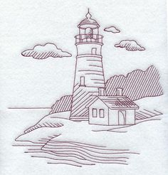 lighthouse embroidery (to use as pattern)