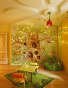 Diseño de pared, cielo falso, y arte en todas partes...