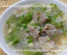 Sotanghon Patola Soup with Siomai