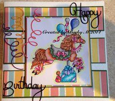 Whimsy's Party Pony. Happy Birthday Evelyn!