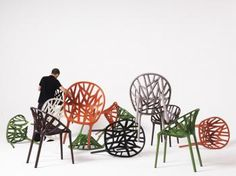 vegetal chair veget chair, ronan, modern chair, seat, chairs, erwan bouroullec, vitra, furnitur, design