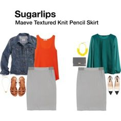 Sugarlips Maeve Textured Knit Pencil Skirt
