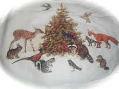 Winter Animals, Christmas Card, art created by Luthu Travisi, pattern created by Michele Sayetta, from Heaven and Earth Designs, stitched by Donna, StitchyDon's Cross Stitch Blogger.
