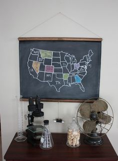 Cool map print - I love state things. Maybe because we move around so much and we could color lots of states.