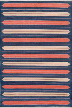 Madeline Weinrib Mogra Classic Indian Dhurrie Carpet