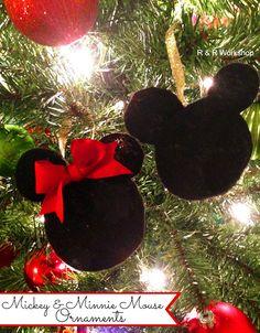 Mickey Minnie Ornaments