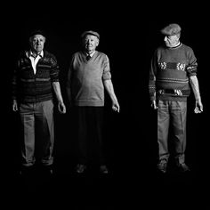 """Three men who stood in the same line in Auschwitz have nearly consecutive numbers: From left, Menachem Shulovitz, 80, bears B14594; Anshel Udd Sharezky, 81, was B14595; and Jacob Zabetzky, 83, was B14597. """"We were strangers standing in line in Auschwitz, we all survived different paths of hell, and we met in Israel,"""" Mr. Sharezky said. """"We stand here together now after 65 years. Do you realize the magnitude of the miracle?"""""""