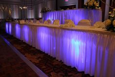Indiana Wedding Under Table Lighting
