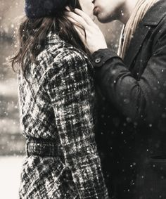 #photography #snow #love #couple #kiss