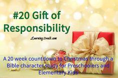 #preschool #bible #lesson on teaching #responsibility through a #Christmas #Bible study countdown