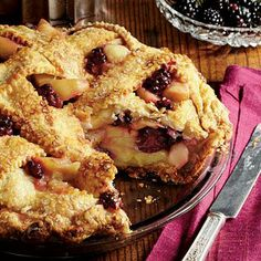 Blackberry-Apple Pie | Blackberry-Apple Pie takes the cake with a from-scratch white Cheddar cheese crust. The filling can be prepared up to one week ahead, making this pie easier than it seems. | SouthernLiving.com