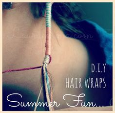 Pinner said Best instructions I've found for hair wraps! Lauraemma.com.: D.I.Y Hair Wraps | Summer Fun.... :: #dreadstop