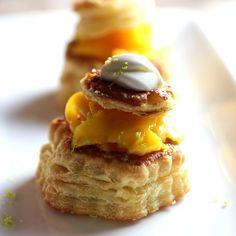 mango & cream vol-au-vent classic dessert