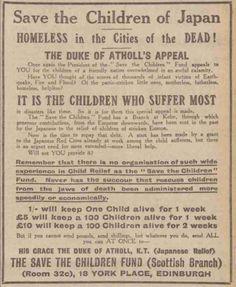 Save the Children Fund. 21 September, 1923.