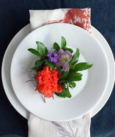 mini floral wreath place settings