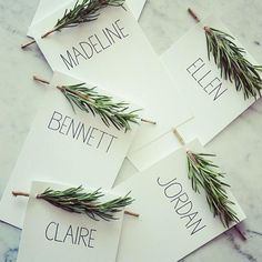Love these name cards for the table settings