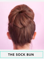 The Sock Bun Tutorial from Beautylish. For all those still wondering...yes, you DO need a sock, but it's UNDER 8 steps!