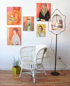 Franco Albini Style Italian Rattan Chair