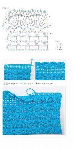 Layered fans - would make such a pretty pillow  #crochet #pillow #edging #border