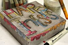 using the Tim Holtz Distress Markers