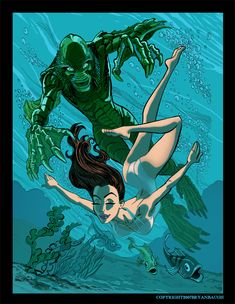 Julie and the Creature from the Black Lagoon