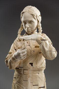 Gehard Demetz, wood sculpture