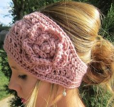 Rose Crochet Head Wrap