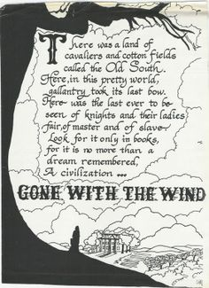 Beginning Of Gone With The Wind