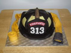 Firefighter Cakes by Nicole Yvonne