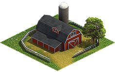 #isometric #barn
