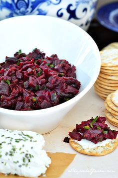 Bring out the flavor of canned beets by roasting them and creating this Roasted Beet Salsa appetizer canned beets recipe, roast beet, vegan roasted beets
