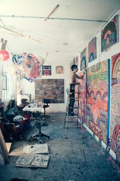 Alexandra Grant in her studio by Young and Hungry
